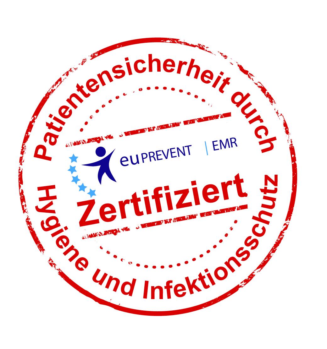 """Siegel """"Patientensicherheit durch Hygiene und Infektionsschutz"""""""