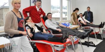 Im Bethlehem-Krankenhaus in Stolberg wird monatlich zur Blutspende gebeten.